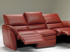 Angelo Contemporary Leather Sofa
