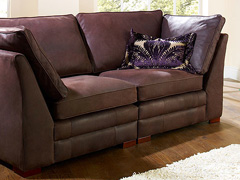 Brompton Contemporary Leather Sofa