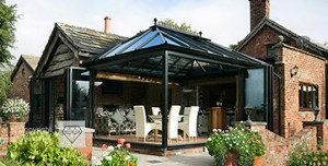 conservatory with doors open