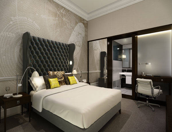 Create your own boutique hotel bedroom darlings of Ampersand london
