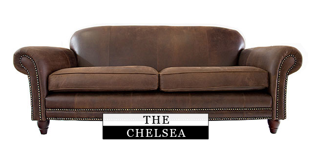 Chelsea  leather chesterfield