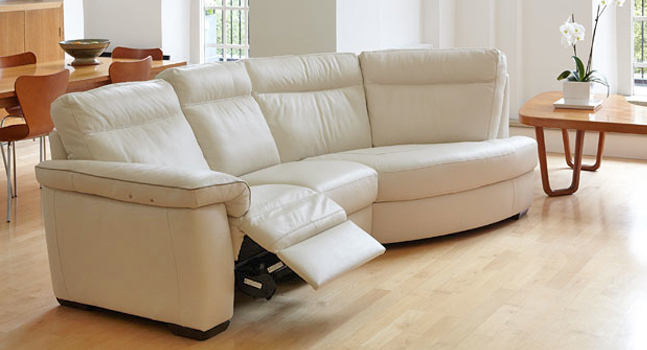 Naples reclining leather sofa
