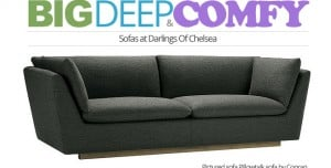 big, deep, comfy sofas at Darlings Of Chelsea