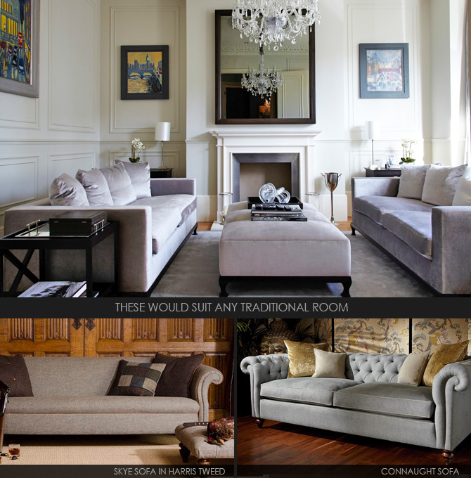 living room with victorian touches