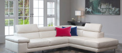 stylish white leather sofas