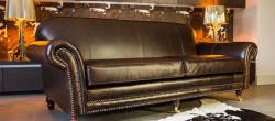 Comfy 4 Seater Leather Sofas