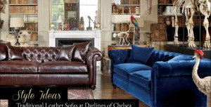 Style Ideas: Traditional Leather Sofas at Darlings of Chelsea
